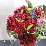 9月 マムの花束