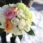 2月チューリップとラナキュラスの花束