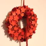 赤のクリスマスリース