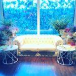 ウェディング メインソファー装飾