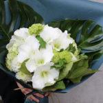 受賞の祝いの花束