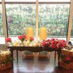春のウェディング メインテーブル装飾