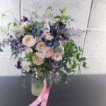 紫×ピンク ナチュラルクラッチブーケ