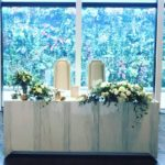 ウェディング メインテーブル 装花