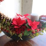 クリスマス ポインセチアのアレンジメント