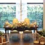 ブライダル メインテーブル装飾