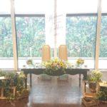 ウェディング 夏のメインテーブル装飾