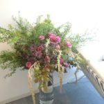 秋分 治療院受付生け込み /  Reception Flowers