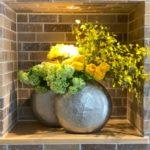 商業施設エントランス生け込み / Office Entrance Flowers