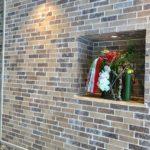 正月 商業施設玄関への生け込み